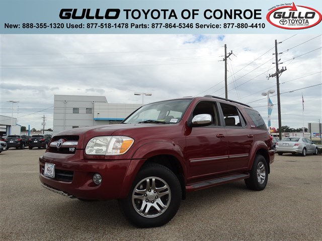 2007: Toyota, Sequoia, Limited, CD PLAYER, Sport Utility