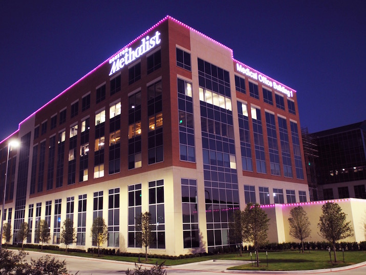 Houston Methodist Breast Care Center Glowing Pink Offering Free Breast Health Event Woodlands