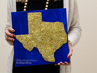 Crafting with Cara - Glitter Texas Canvas