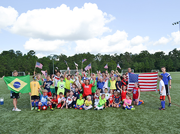 Justine on the Scene at Texas Rush World Cup Soccer Camp