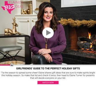 Elaine's Big Ideas - Girlfriends' Guide to the Perfect Holiday Gifts Elaine Turner