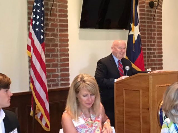 Congressman Kevin Brady addresses 2016 military academy appointees