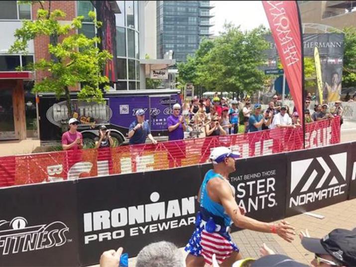 IRONMAN Competitors Finishing The Race