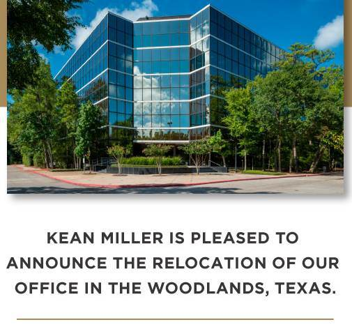 Kean Miller Relocates Woodlands Office