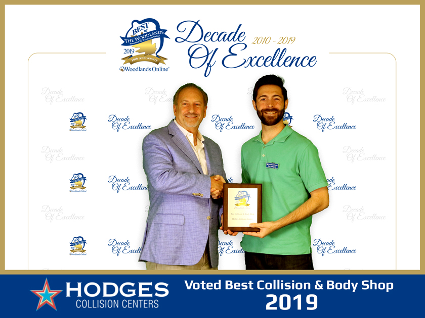 Hodges Collision Centers Named 'Best Collision & Body Shop' by Woodlands Online 'Best of The Woodlands' Community Voting
