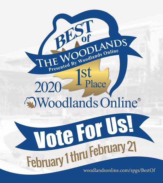 Vote for Us! Best Of The Woodlands 2020