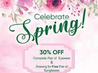 Spring into Woodlands Eye for 30% Off Frames