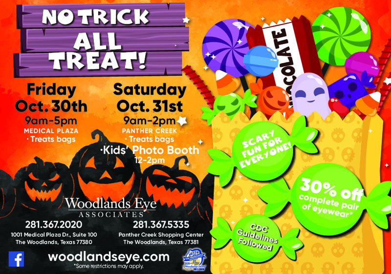 No Tricks! All Treat at Woodlands Eye Associates!