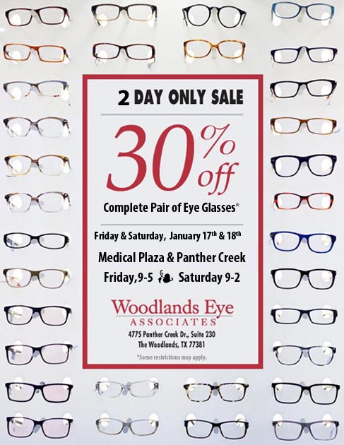 2 Day Sale - 30% Off Complete Pair of Eye Glasses