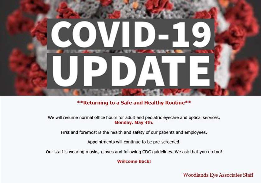 Woodlands Eye COVID-19 Update