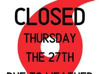 CLOSED Tomorrow the 27th