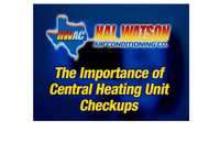 The Importance of Central Heating Unit Checkups