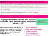 Jamaica Immigration and COVID test protocols revised