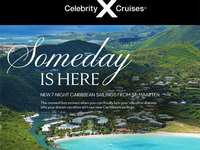 Celebrity Cruises return to cruising June 2021 from St. Maarten