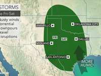 Thunderstorms to bring downpours, gusty winds to central US beginning on Friday