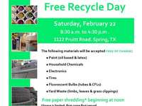 Montgomery County Precinct 3 Offers Free Recycling Day