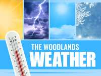 Mild Temperatures in The Woodlands Before Next Cold Front on Wednesday
