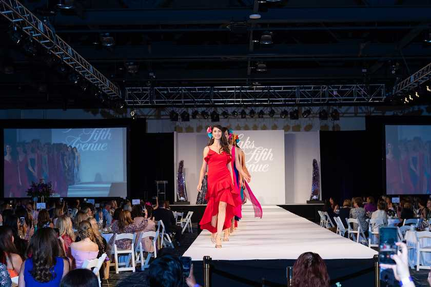 Guests enjoy Saks Fifth Avenue Runway Show