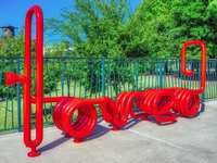 "'You are LOVED' Art Bench Installation Celebrated at ""Art Feel"" Hosted by The Woodlands Arts Council"