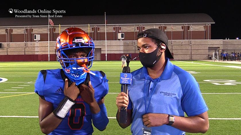 HS Football Post Game Player of the Game Interview: Grand Oaks vs Caney Creek - 9/24/20