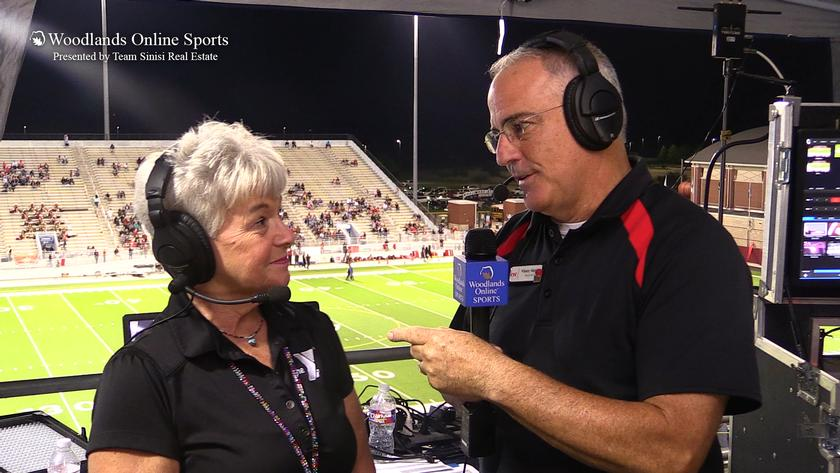 HS Football Halftime Interview: Grand Oaks vs Caney Creek - 9/24/20